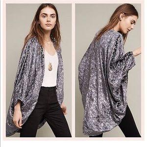 Anthropologie Feathers by Tolani Velvet Kimono